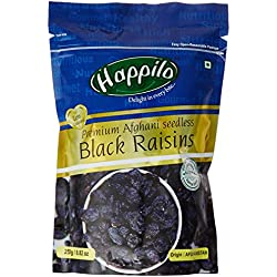 Happilo Premium Afghani Seedless Black Raisins, 250g
