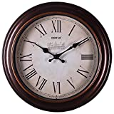 #7: OREVA (Ajanta) Quartz Wooden Finished Plastic Limited Edition Round Shape With Roman Numbers(30.5 cm X 30.5 cm)