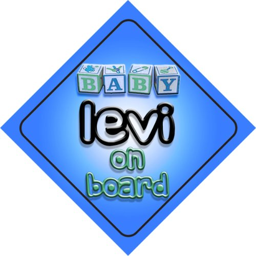 Price comparison product image Baby Boy Levi on board novelty car sign gift / present for new child / newborn baby
