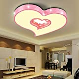 Edge to Deckenleuchten LED herzförmige Deckenleuchte Kinderzimmer Deckenleuchten ultradünne Design kreative Schlafzimmer Restaurant Lichter (Farbe : Pink-45 * 6cm)