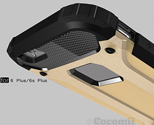 iPhone 6S Plus / iPhone 6 Plus Schutzhülle, Cocomii® [HEAVY DUTY] Commando Case *NEUE* [ULTRA BONIC RÜSTUNG] Premium Staubdicht Stoßfest Hülle Bumper [MILITARY DEFENDER] Voller Körper Robuste Dual Lay Metal Slate