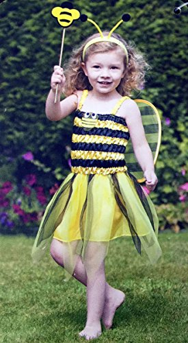 Kostüm Bee Girl Bumble - Toddlers Bumble Bee Costume Girls Wings Stripe World Book Day Outfit