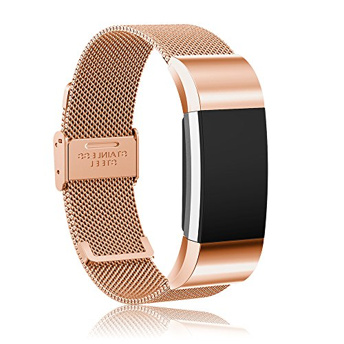 Cyeeson Fitbit Charge 2 Armband Edelstahl Adustable Armband Strap Replacement Watch Band mit Schraubenzieher für Fitbit Charge 2