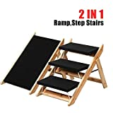 tinkertonk 2-in-1 Folding Dog Cat Step Stairs&Ramp,3 Steps