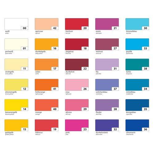 farbpapier Folia Tonpapier 130g/m², DIN A3, 10 Farben, mehrfarbig, 50-teilig (1 Set)