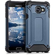 kwmobile Funda para Samsung Galaxy A3 (2016) - Case híbrida Diseño Transformer de TPU silicona - Hard Cover Diseño Transformer en azul oscuro negro