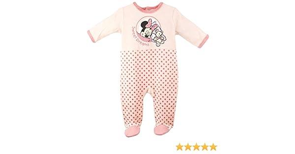 2cd31973936f5 Pyjama velours bébé fille Minnie Rose et Orange de 3 à 23mois (23 mois