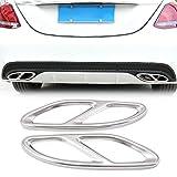 Coche Accesorios para productos marco de cola de escape trim para Mercedes Benz Amg M2un B E clase C W205Coupe W213W176W2462015–2017