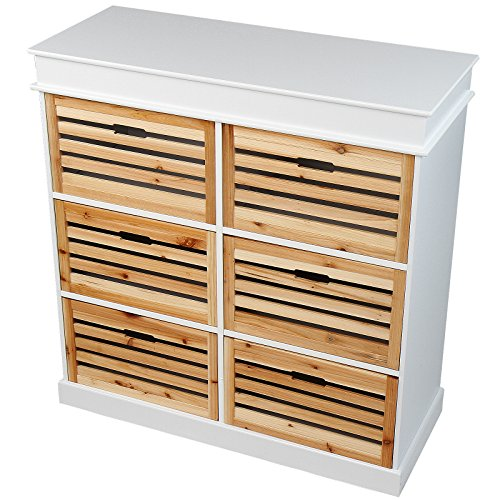 Miadomodo® KMDO06 Chest of 6 Drawers made of Fir Wood