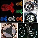 JenNiFer 16-18 Zoll Rad Aufkleber Reflektierende Felge Streifen Decals Band Für Auto Bike Motorrad - Blau