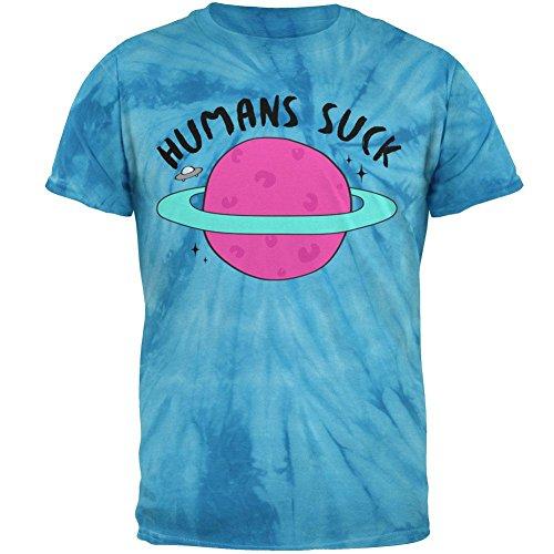 Halloween Menschen Saugen Herren-T-Shirt Windrad Blaue Krawatte Farbstoff -