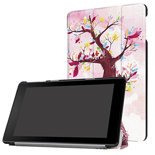 Funda Kindle Fire HD 8, Magiyard Titular de la caja de cuero protector