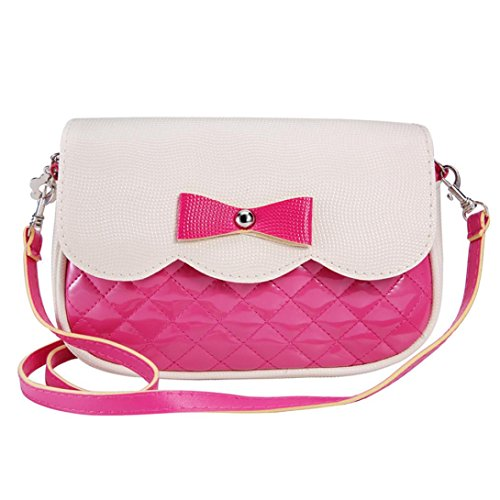 Ouneed Women Cute Crossbody Bag With Bowknot Shoulder Bag for Girl (Hot Pink)