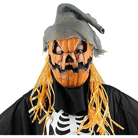 Oyedens Fiesta de Halloween máscara de la máscara de Cosplay espantapájaros de la calabaza Terror Mask máscara de la
