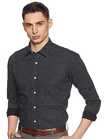 Amazon Brand - Symbol Men's Printed Formal Shirt