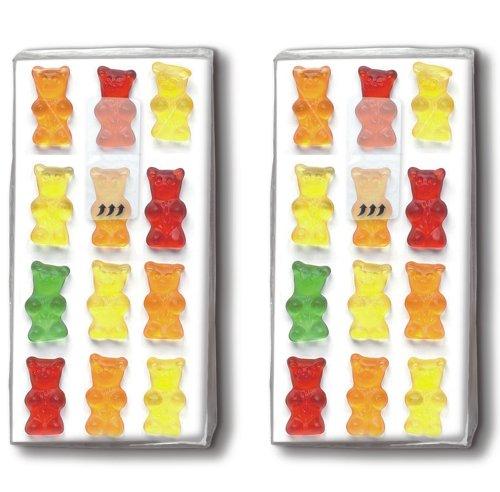 2x 10 Taschentücher Jelly babies - Gummibärchen / Kinder / Motivtaschentücher