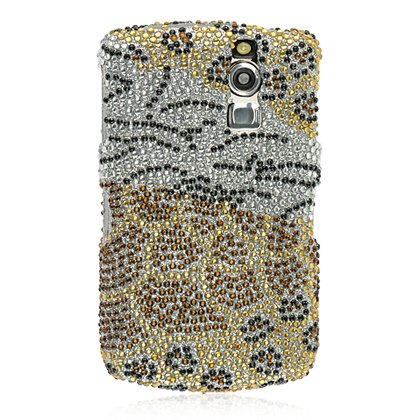 Black Gold Animal Pattern Full Diamond Crystal Snap on Hard Cover Faceplate Case for Blackberry Curve 8300 8310 8330 Blackberry Hard Faceplates