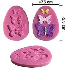 Inception Pro Infinite Molde de Silicona para Uso Artesanal 3 Mariposas
