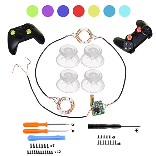 ACTMODZ Transparent Analog DIY LED Light Daumen Sticks Mod Klar Thumbsticks für PS4 Xbox One Controller 7 Farben Repair Tools -