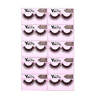 Anself Falsche Wimpern Dicke Lange Künstliche Eyelashes, 10 Paar, Pure Handgemacht