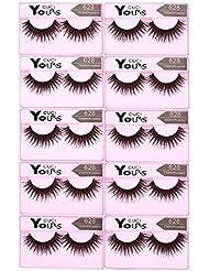 Anself Falsche Künstliche Wimpern Dicke Lange Eyelashes, 10 Paar, Pure Handgemacht