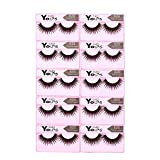 Anself 10 Pairs False Eyelashes Pure Hand-made Thick Long Voluminous Fake Lashes