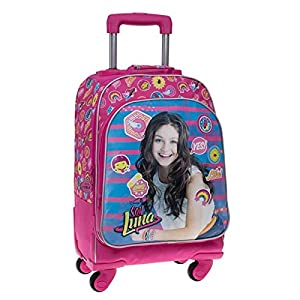 51n6FpiSQEL. SS300  - Disney Yo Soy Luna Mochila Escolar, 31.88 litros, Color Rosa