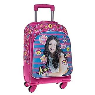 51n6FpiSQEL. SS324  - Disney Yo Soy Luna Mochila Escolar, 31.88 litros, Color Rosa