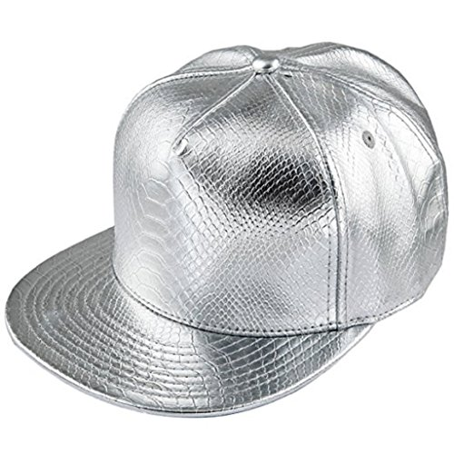Hüte Männer flache Spitze Snapback Baseball Individualität Unisex Hip Hop Rock Punk Cap Minzhi (Baseball-rock)