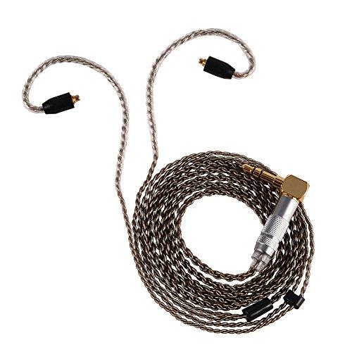 3.5mm Câble pour casque écouteurs, EN CUIVRE pur MMCX connecteur câble audio auxiliaire (1,2m/1.2m) pour Shure SE215SE535Se846casque