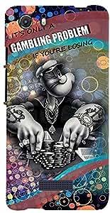 PRINTVISA Quotes Gambling Case Cover for Micromax Unite 3 Q372 (Multicolour)
