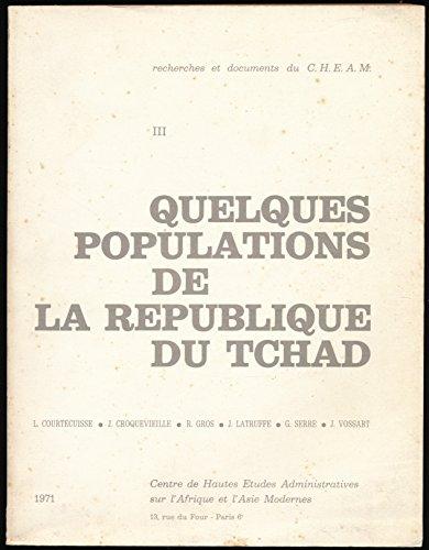 Quelques populations de la République du Tchad (Les arabes du Tchad) - Index géographique, Index des noms propres
