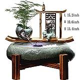 Statue Fontana Waterscape,Fengshui decoración Interior Ornamenti in Ceramica Fontana Zen da Tavolo Fontana del Buddha Seduto Arredi per la casa di Soggiorno-Fontana da tavolino 15.2pollice