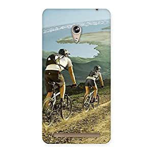 Stylish Bycycle View Back Case Cover for Zenfone 6