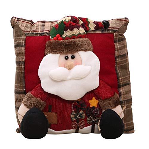 Weihnachten Baumwolle Leinen Bettwäsche Kissen, Auto Party Dekorative Kissen, Santa Clause Schneemann Cartoon Quadrat Kissen Dekorationen 35 * 35Cm Pro - Dekorative Kissen Auto