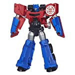 Deceptions beware, because Optimus Prime is ready to lead the Autobots into battle against them one more time. This Autobot warrior figure converts in 5 steps from robot mode to charging semi truck mode and back. Can his Deception enemies stand again...
