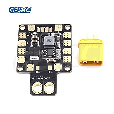 Crazepony-UK Upgrade GEPRC-XT60 PDB Power Distribution Board with 3-6S Input 5V 12V Output Support the LC filter for FPV Racing Quadcopter Frame?with XT60 Integrated Plug?