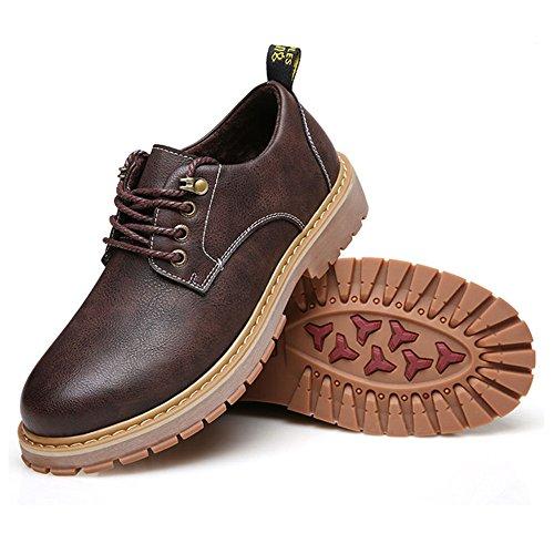 CUSTOME Hommes Neuves Chaussures Décontracté Plates Confortable Chaussures Cuir Fausse Loisirs Formel brown