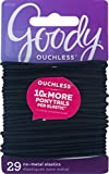 Goody Medium Hair Elastics, 2mm, Black, 29Pcs