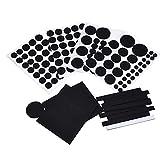 Mudder Muebles de Fieltros, Almohadillas de Protección para Silla y Piso, Negro (Conjunto de 132)