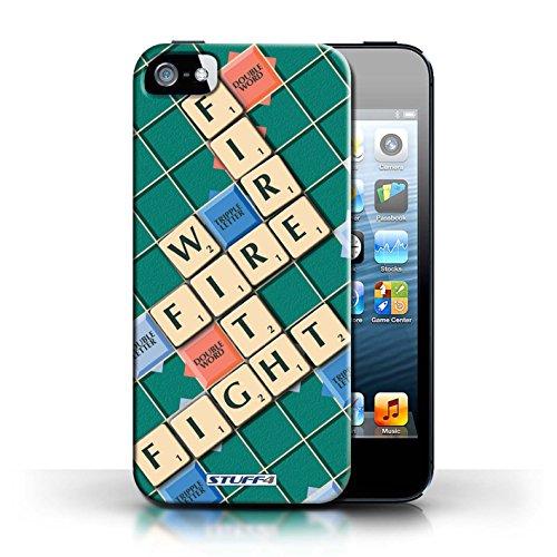 iChoose® Print Motif Coque de protection Case / Plastique manchon de telephone Coque pour iPhone 6+/Plus 5.5 / Collection Mots de Scrabble / Coeur Chaud Lutte Incendie