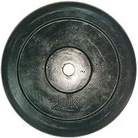 LiveUP Sports - Disco Peso 20Kg 1pz Agujero 28mm Goma Natural Hierro Fundido Barra Musculacion