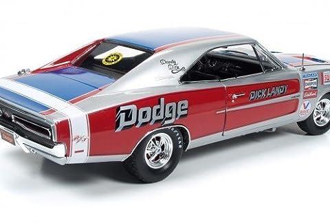 Auto World New & Super Cool! Dandy Dick Landy 1969 Hemi Dodge Charger R/T Nhra Super Stocker Diecast 1/18Th Scale Replica