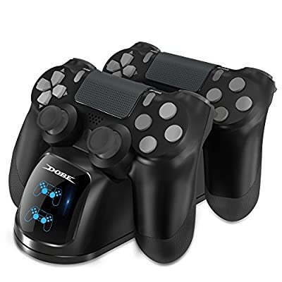 DOBE PS4 Controller Charger, PS4 USB Dual Charging Charger Docking Station Stand for Sony Playstation PS4/PS4 Slim/PS4 Pro Controller (Blue-Red) by DOBE