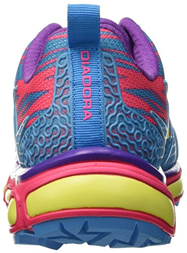 Diadora Trail Race, Chaussures Mixte Adulte Blu (Blu Fluo/Rosa Fluo)