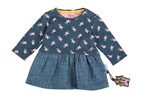 Sigikid Mädchen Kleid Jeans, Baby, Blau (Stormy Weather 214), 80