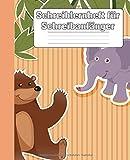 Schreiblernheft für Schreibanfänger: Geeignet für Kinder in der Vorschule und Kindergarten | Schreiblernhilfe und Übungsheft | Super zum Schreiben lernen und üben | Super niedliches Cartoon Design