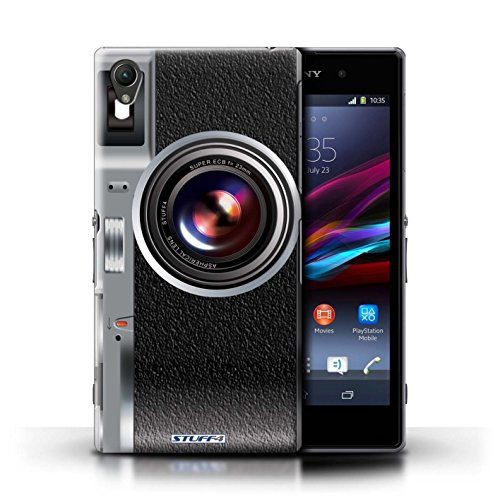Kobalt® Imprimé Etui / Coque pour Sony Xperia Z1 / Instantanée Retro conception / Série Appareil Photo Millésime
