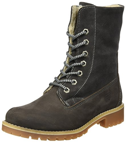 Tamaris Damen 26443 Combat Boots, Grau (Anthracite), 37 EU