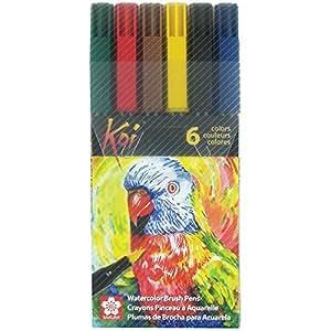 Sakura Koi coloring brush pen set - 6 assorted colors: Amazon.in ...